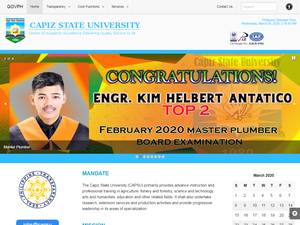 Capiz State University's Website Screenshot