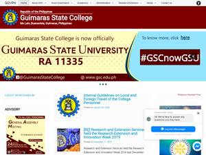 Guimaras State College's Website Screenshot