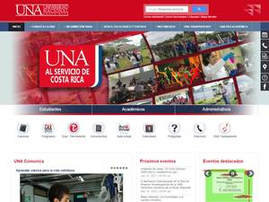 National University, Costa Rica Screenshot