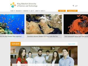King Abdullah University of Science and Technology's Website Screenshot