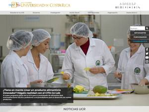 Universidad de Costa Rica's Website Screenshot