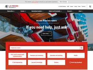 La Trobe University's Website Screenshot