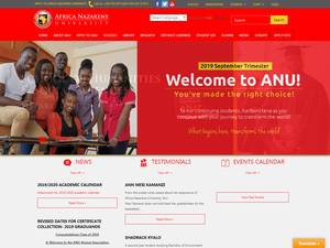 Africa Nazarene University's Website Screenshot