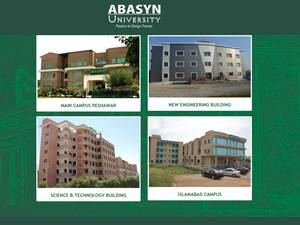 Abasyn University's Website Screenshot