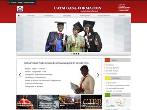 Université Africaine de Technologie et de Management's Website Screenshot