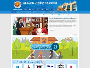 Paññasastra University of Cambodia's Website Screenshot