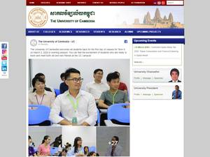 The University of Cambodia's Website Screenshot