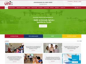 Universidade de Cabo Verde's Website Screenshot