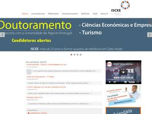 Instituto Superior de Ciências Económicas e Empresariais's Website Screenshot