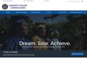 University College of the Cayman Islands's Website Screenshot