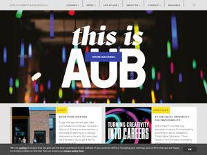Arts University Bournemouth's Website Screenshot