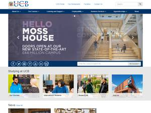 University College Birmingham's Website Screenshot