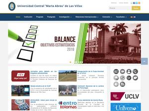 Universidad Central Marta Abreu de Las Villas's Website Screenshot