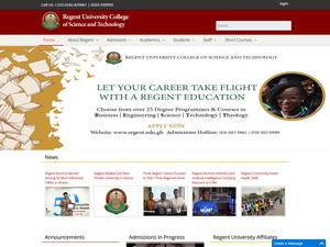 Regent University College of Science and Technology's Website Screenshot