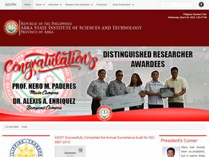 Abra State Institute of Science and Technology's Website Screenshot