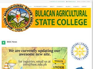 Bulacan Agricultural State College's Website Screenshot
