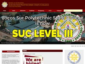 Ilocos Sur Polytechnic State College's Website Screenshot