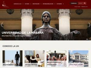 Universidad de La Habana's Website Screenshot