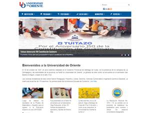 Universidad de Oriente's Website Screenshot