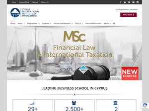 Cyprus International Institute of Management Screenshot