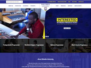 Nkumba University's Website Screenshot