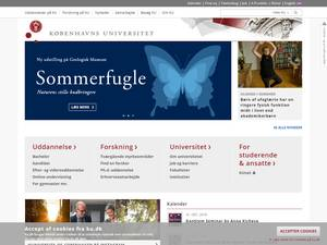 Københavns Universitet's Website Screenshot
