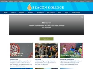 Beacon College's Website Screenshot