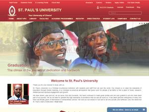 St. Paul's University's Website Screenshot