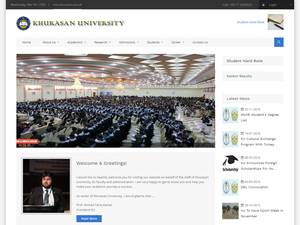 Khurasan University's Website Screenshot