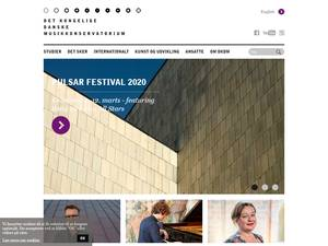 Det Kongelige Danske Musikkonservatorium's Website Screenshot