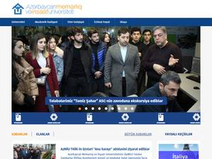 Azerbaycan Memarliq ve Insaat Universiteti's Website Screenshot