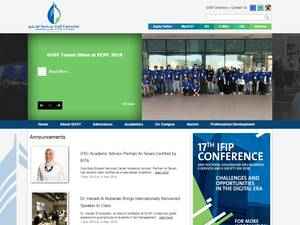 Gulf University for Science and Technology's Website Screenshot