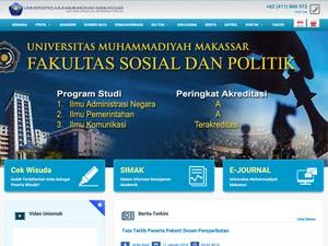 Universitas Muhammadiyah Makassar's Website Screenshot