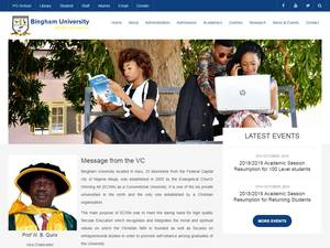 Bingham University's Website Screenshot