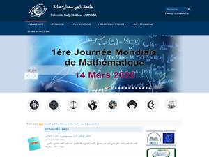 Université Badji Mokhtar de Annaba's Website Screenshot