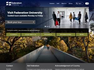 Federation University Australia's Website Screenshot