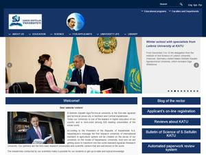 Saken Seifullin Kazakh Agrotechnical University's Website Screenshot