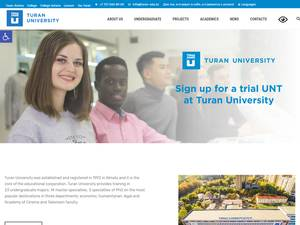 Turan University's Website Screenshot
