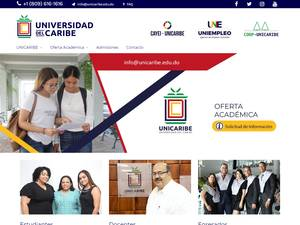 Universidad del Caribe's Website Screenshot