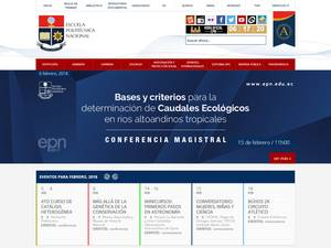 Escuela Politécnica Nacional's Website Screenshot