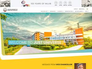 Jessore University of Science and Technology's Website Screenshot