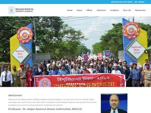 Begum Rokeya University's Website Screenshot