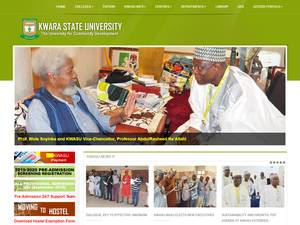 Kwara State University's Website Screenshot