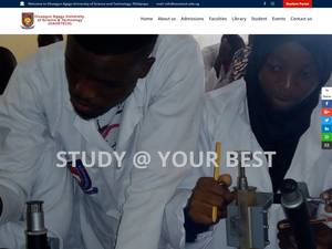 Ondo State University of Science and Technology's Website Screenshot