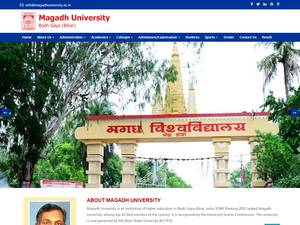 Magadh University's Website Screenshot