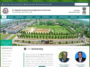 Dr. Rajendra Prasad Central Agricultural University's Website Screenshot