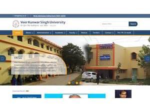 Veer Kunwar Singh University's Website Screenshot