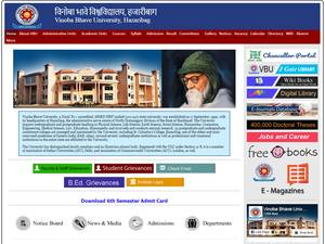 Vinoba Bhave University's Website Screenshot