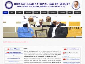 Hidayatullah National Law University Screenshot
