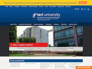 TERI School of Advanced Studies's Website Screenshot